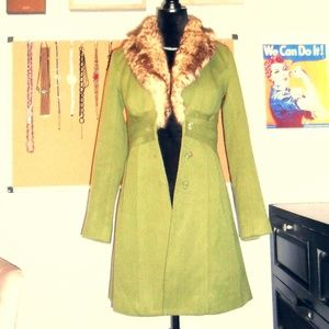 Rampage XS Coat With Brown Fur Collar